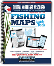 Central-Northeast Wisconsin Fishing Map Guide - includes contour lake maps and fishing information for over 280 lakes
