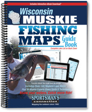 Wisconsin Muskie Fishing Map Guide - includes contour lake maps and fishing information for over 140 lakes