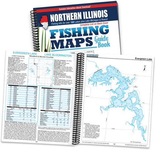 Northern Illinois Fishing Map Guide cover and pages