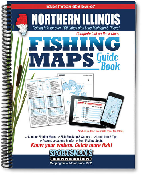Sports & Fitness Fishing Map Clinton Lake Illinois Sports ...