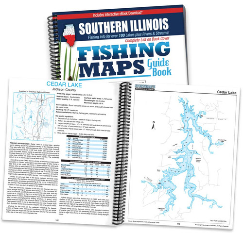 Southern Illinois Fishing Map Guide cover and map page spread