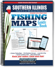 Southern Illinois Fishing Map Guide cover - includes contour lake maps and fishing information for over 130 lakes and rivers
