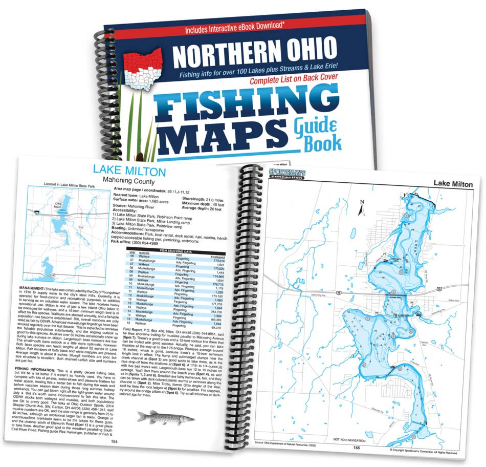 Lake Milton Ohio Map.Northern Ohio Fishing Map Guide Sportsman S Connection
