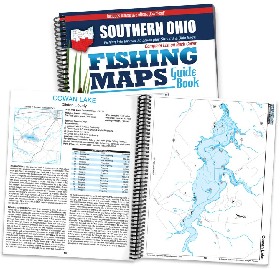 Southern Ohio Fishing Map Guide   Sportsman\'s Connection