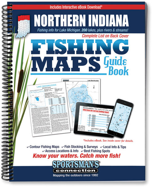 Northern Indiana Fishing Map Guide - Print Edition