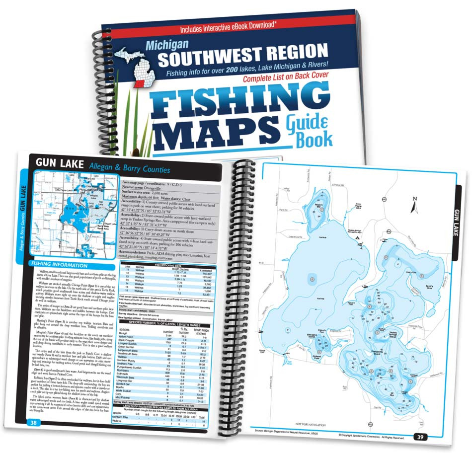 Southwest Michigan Fishing Map Guide - Print Edition