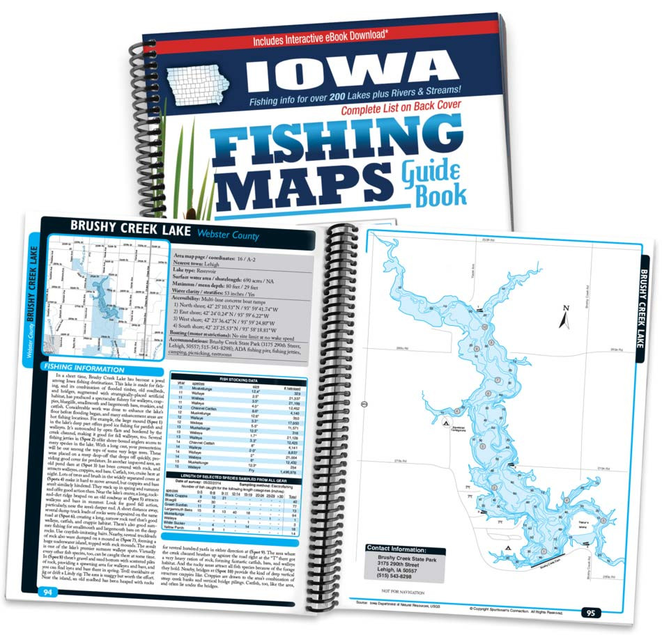 Iowa Fishing Map Guide Sportsman S Connection