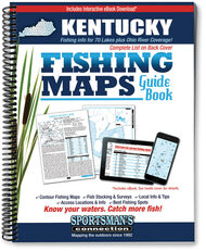 Kentucky Fishing Map Guide cover - includes contour lake maps and fishing information for 69 of the state's best fisheries