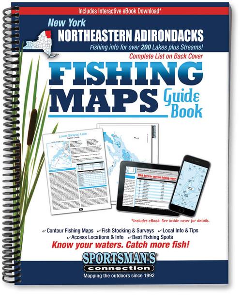 Northeastern Adirondacks New York Fishing Map Guide - Print Edition
