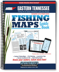 Eastern Tennessee Fishing Map Guide - includes contour lake maps and fishing information