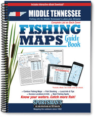 Middle Tennessee Fishing Map Guide - includes contour lake maps and fishing information