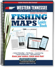 Western Tennessee Fishing Map Guide - includes contour lake maps and fishing information
