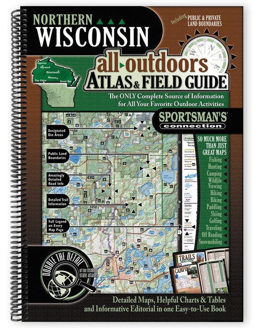 Northern Wisconsin All-Outdoors Atlas & Field Guide cover - your complete guide to all of the outdoor opportunities the region has to offer