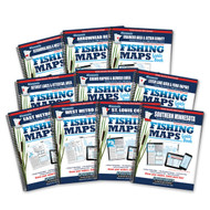 Minnesota Fishing Map Guide covers