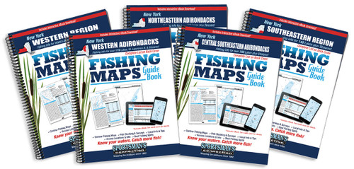New York Fishing Map Guide Covers