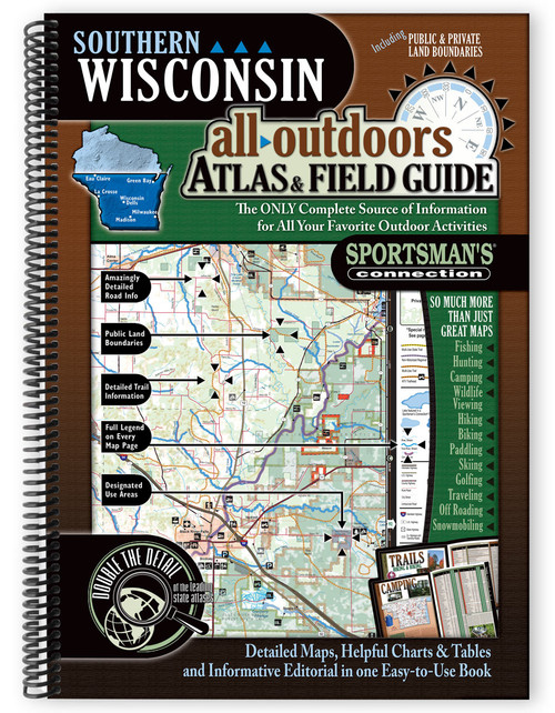 Southern Wisconsin All-Outdoors Atlas & Field Guide cover - your complete guide to all of the outdoor opportunities the region has to offer