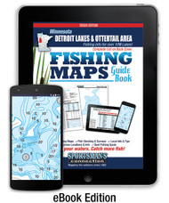 Detroit Lakes & Otter Tail Area Minnesota Fishing Map Guide eBook cover