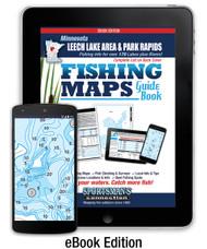Northern Minnesota Leech Lake Area & Park Rapids Area Fishing Map Guide eBook cover
