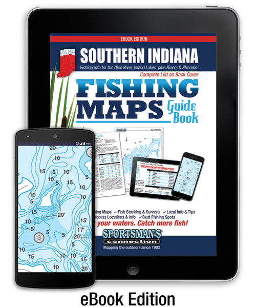 Southern Indiana Fishing Map Guide eBook Cover