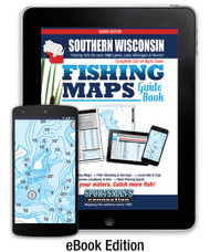 Southern Wisconsin Fishing Map Guide eBook Edition - includes contour lake maps and fishing information for over 170 lakes