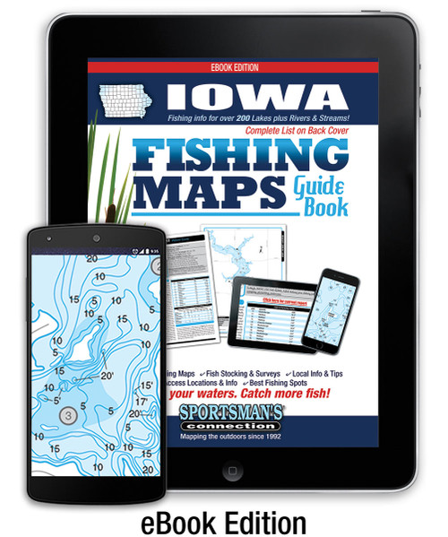 Iowa Fishing Map Guide eBook Edition cover