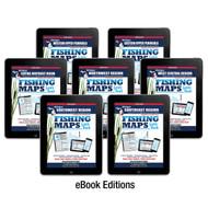 Michigan Fishing Map Guide eBook Covers