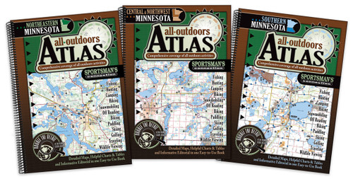 Minnesota All-Outdoors Atlas & Field Guide covers