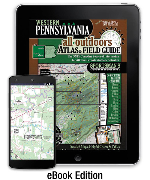 Western Pennsylvania All-Outdoors Atlas & Field Guide eBook cover - your complete guide to all of the outdoor opportunities the region has to offer