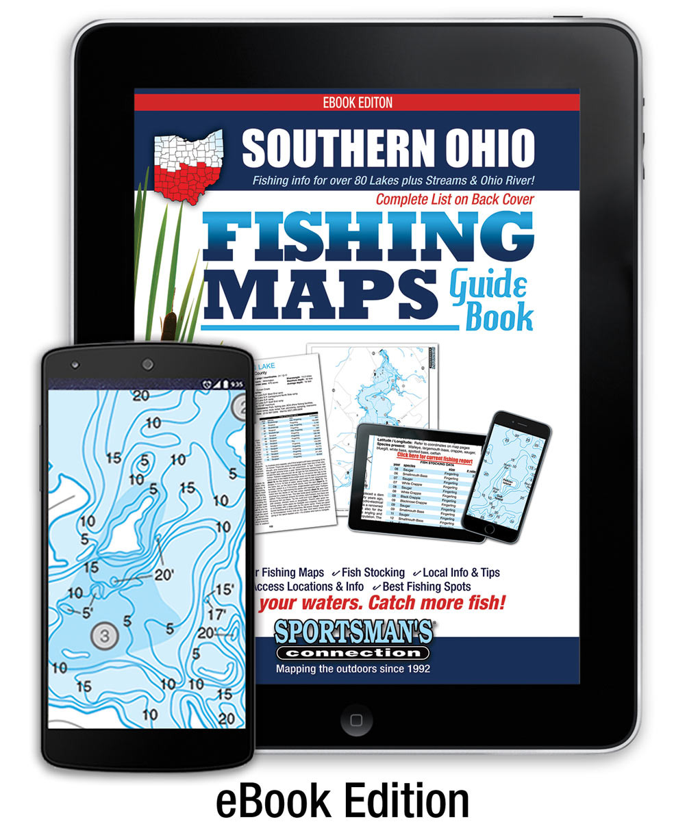 Southern Ohio Fishing Map Guide eBook   Sportsman\'s Connection
