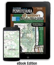 Eastern Pennsylvania All-Outdoors Atlas & Field Guide cover - your complete guide to all of the outdoor opportunities the region has to offer