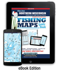 Vilas Area Wisconsin Fishing Map Guide eBook - includes contour lake maps and fishing information for over 180 lakes