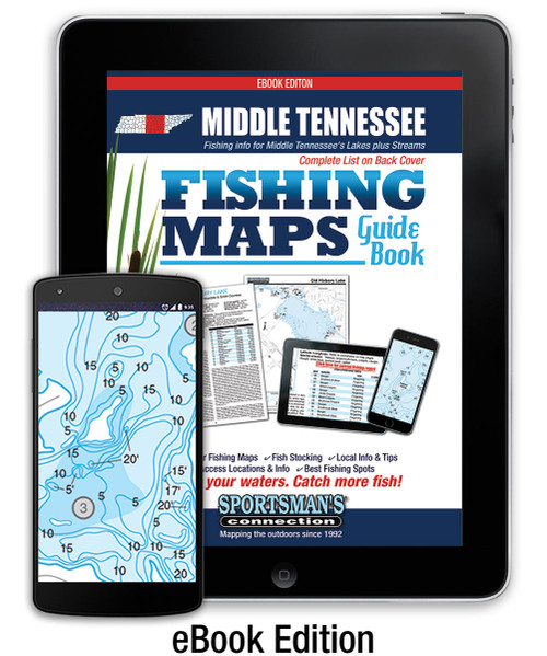 Middle Tennessee Fishing Map Guide eBook Edition Cover