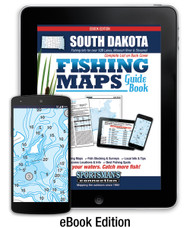 South Dakota Fishing Map Guide eBook - includes contour lake maps and fishing information for over 135 lakes
