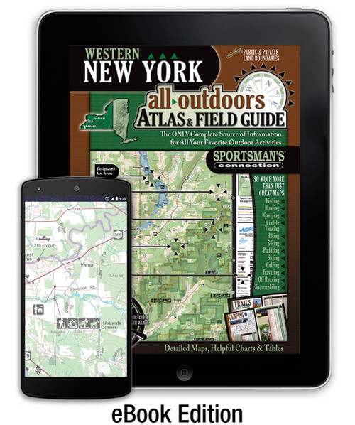 Western New York All-Outdoors Atlas & Field Guide cover - your complete guide to all of the outdoor opportunities the region has to offer