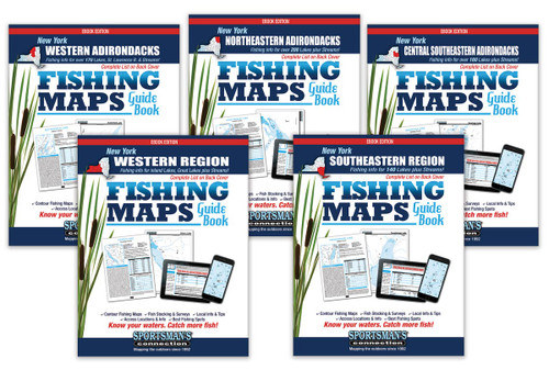 New York Fishing Map Guide eBook Covers