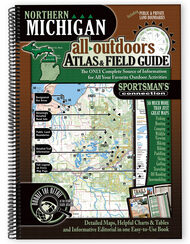 Northern Michigan All-Outdoors Atlas & Field Guide cover - your complete guide to all of the outdoor opportunities the region has to offer