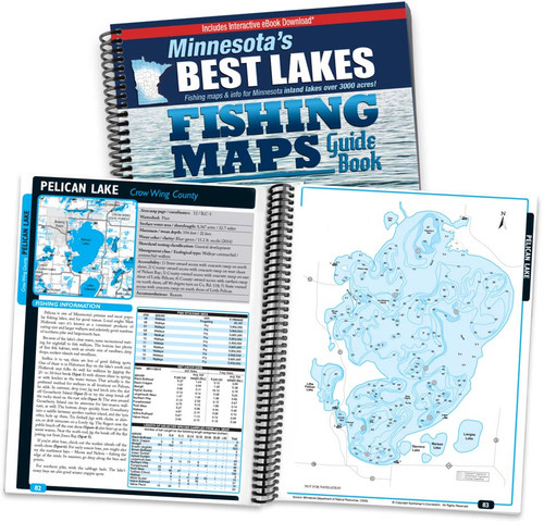 Minnesota's Best Lakes Fishing Map Guide cover and pages