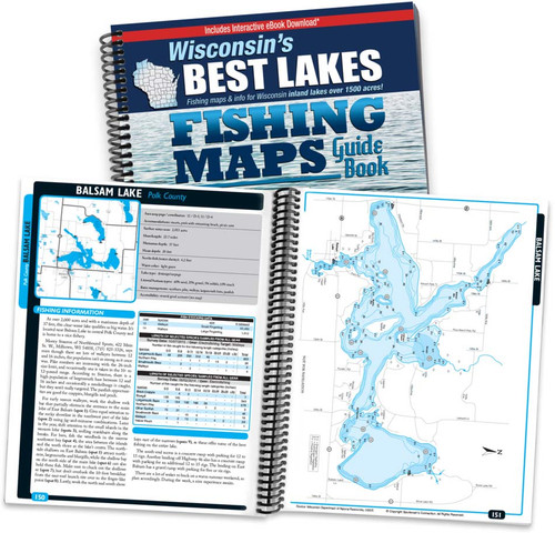 Wisconsin's Best Lakes Fishing Map Guide Cover and pages