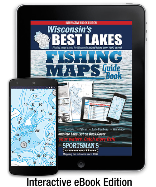 Wisconsin's Best Lakes Fishing Map Guide  Interactive eBook Edition cover