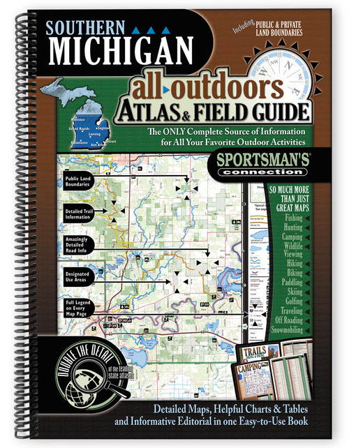 Southern Michigan All-Outdoors Atlas & Field Guide cover - your complete guide to all of the outdoor opportunities the region has to offer