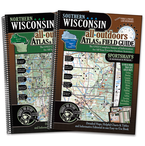 Wisconsin All-Outdoors Atlas & Field Guide cover s- your complete guide to all of the outdoor opportunities the state has to offer