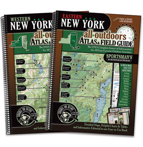 New York All-Outdoors Atlas & Field Guide covers - your complete guide to all of the outdoor opportunities the state has to offer