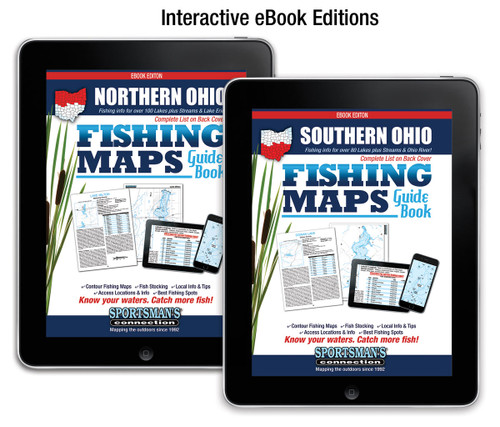 Ohio Fishing Map Guide eBook covers
