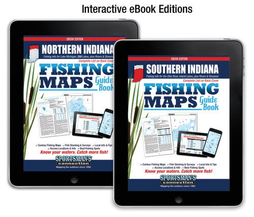Indiana Fishing Map Guides eBook covers