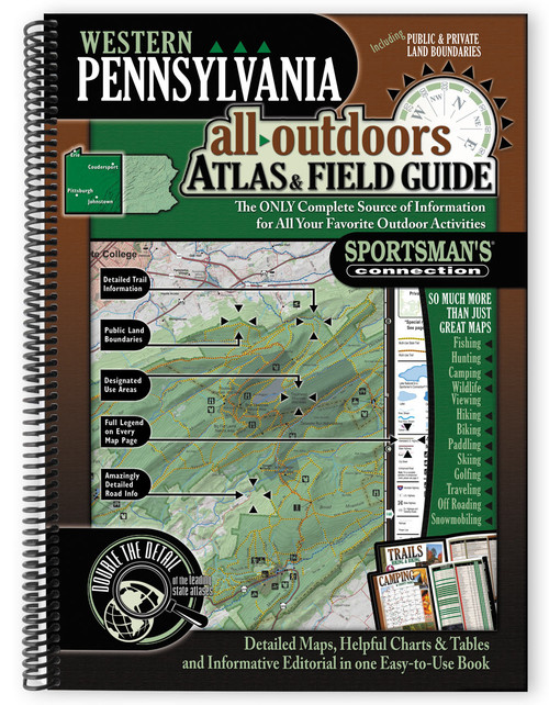 Western Pennsylvania All-Outdoors Atlas & Field Guide cover - your complete guide to all of the outdoor opportunities the region has to offer