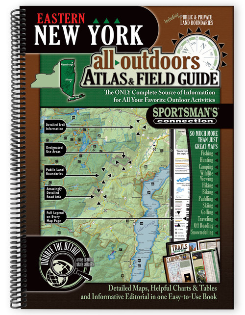 Eastern New York All-Outdoors Atlas & Field Guide cover - your complete guide to all of the outdoor opportunities the region has to offer