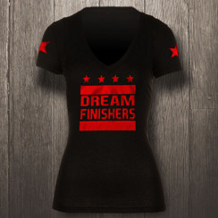Black & Red Metallic Dream Finishers - Women