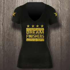 Black & Yellow Glitter Gold Dream Finishers - Women