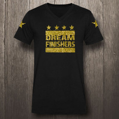 Black & Yellow Glitter Gold Dream Finishers - Men