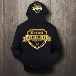 Black and Gold Dream Finisher Hoodie